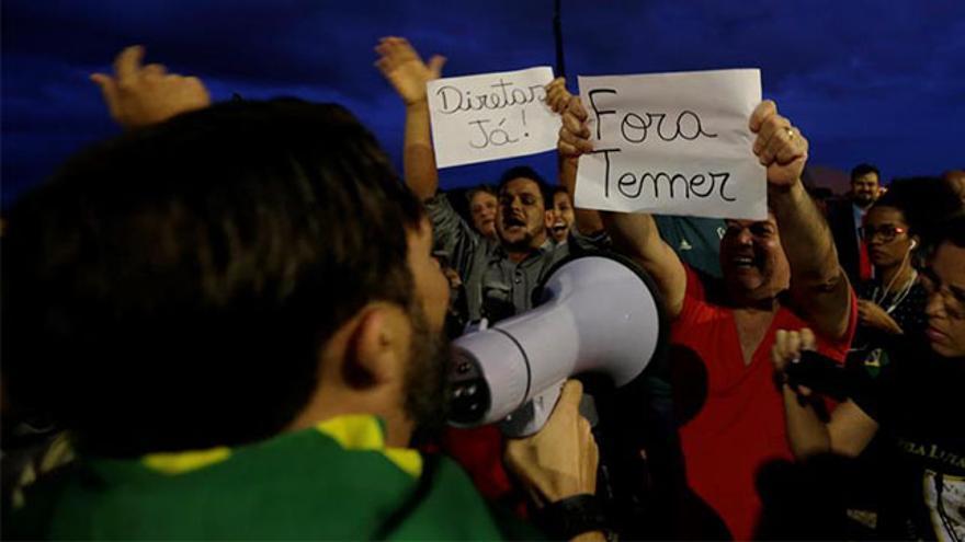 Miles de brasileños exigen la dimisión de Temer y la convocatoria de elecciones