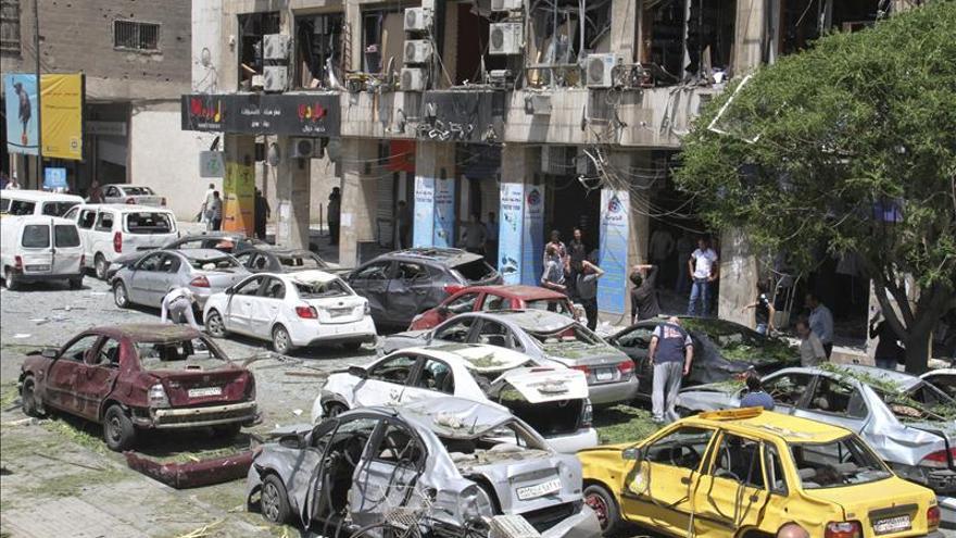 Al menos 8 muertos y 30 heridos por una explosión en el centro de Damasco