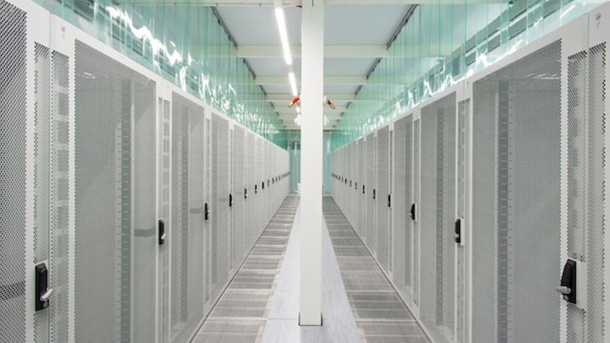 Imagen por dentro de las instalaciones de Verne Global en Islandia