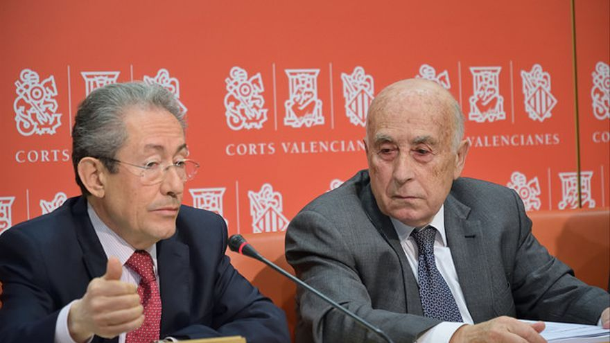 El síndic de Greuges, José Cholbi, junto al síndic adjunto, Ángel Luna