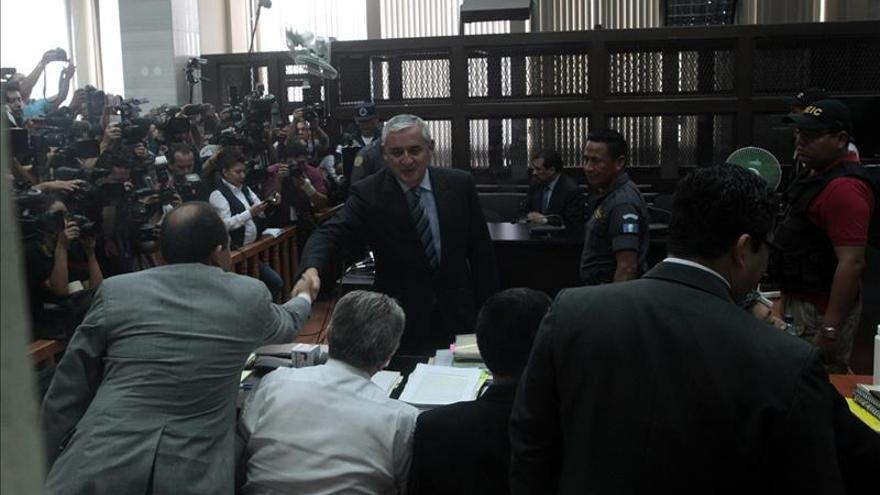 Pérez Molina niega ante el juez su implicación en la red de corrupción que le sacó del poder