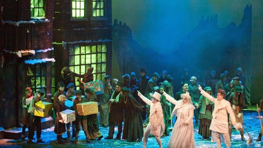 ABAO Txiki representa en el Teatro Arriaga de Bilbao la ópera infantil 'Cuento de Navidad', basado en la obra de Dickens