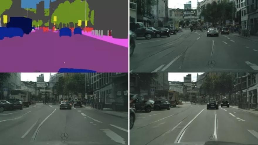 La IA de Nvidia generando ciudades