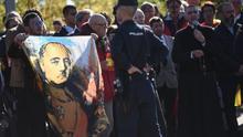 El segundo entierro de Franco remueve en El Pardo los últimos restos del franquismo más ultra