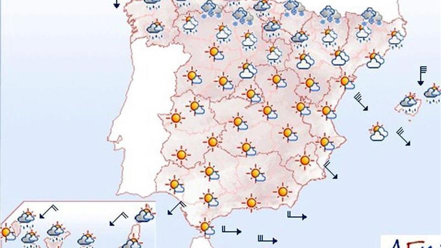 Hoy, viento muy fuerte en Cantábrico, Pirineos, Ampurdán, Menorca y Ebro