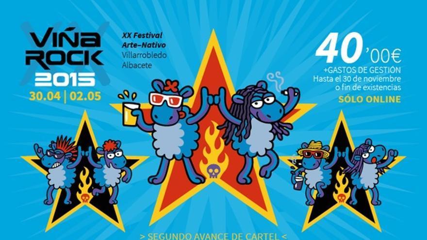 Avance de cartel de ViñaRock 2015, noviembre '14.