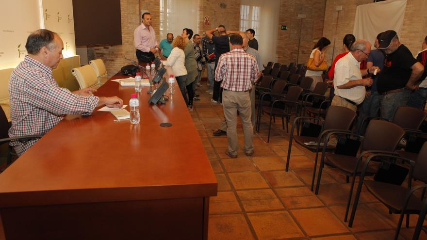 Encierro de los cargos públicos de Izquierda Unida en la Diputación de Jaén.