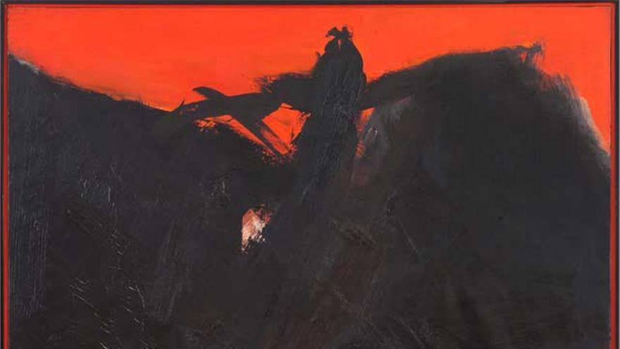 El lienzo 'Rojo Sombrío',de José Guerrero