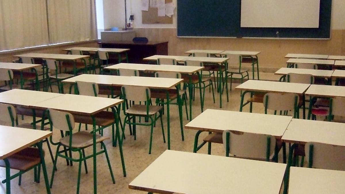 Imagen de un aula en un centro educativo