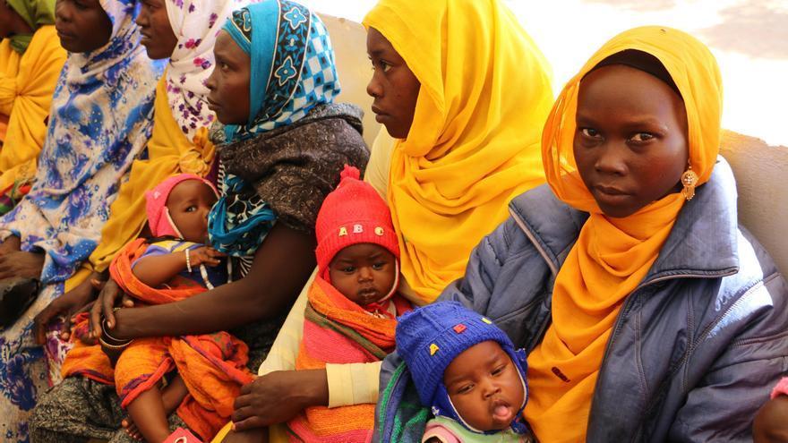 Mujeres refugiadas en Chad.