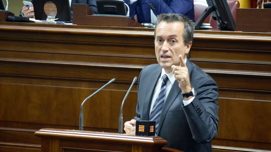 El portavoz de CC, José Miguel Ruano