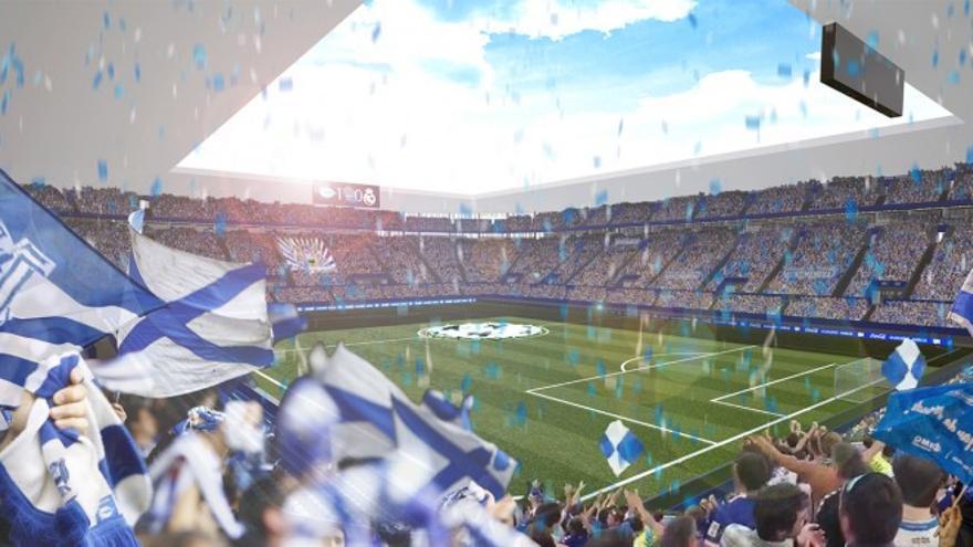 Recreación del nuevo estadio de Mendizorroza, del Deportivo Alavés
