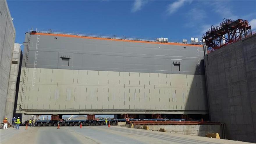 GUPC coloca la mitad de las compuertas de la ampliación del Canal de Panamá