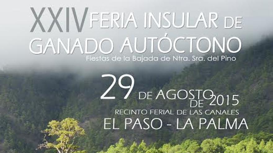 Carte de la XXIV Feria Insular de Ganado Autóctono de El Paso