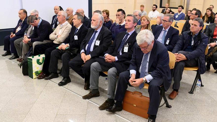 Acusados por el caso de la visita del Papa, en la Audiencia Nacional.