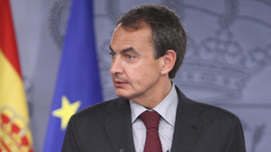 El presidente del Gobierno, José Luis Rodríguez Zapatero, en Moncloa