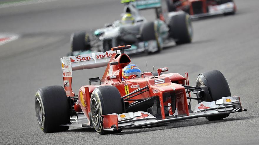 Fernando Alonso en el Gran Premio de Fórmula 1 de Bahréin. 22 de abril de 2012. Copy: Ryan Bayona CC-BY-2.0
