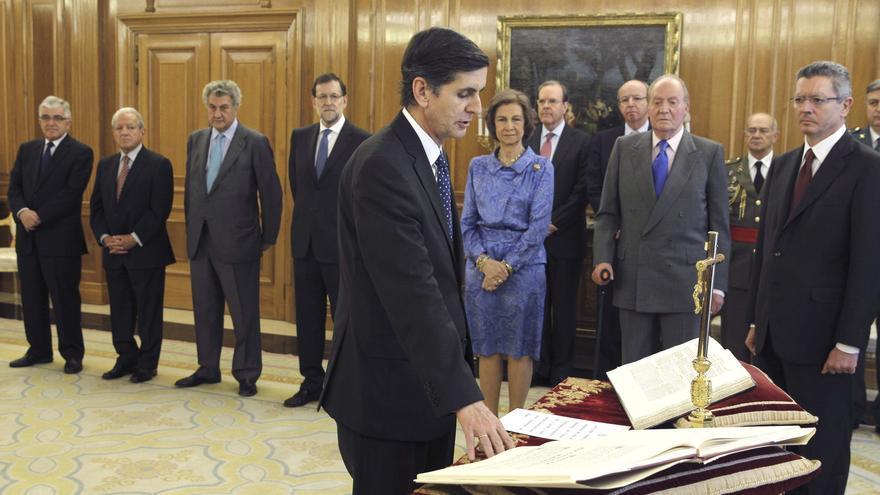 Pedro González-Trevijano, durante la jura de su cargo como magistrado del Constitucional