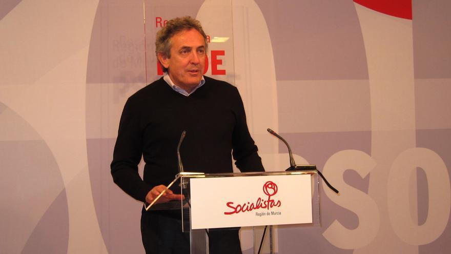 """El PSOE acusa a Valcárcel de buscar un perfil internacional para """"tapar"""" sus """"fracasos"""" de gestión en Murcia"""