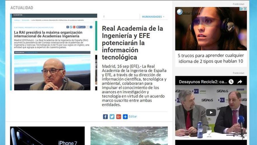Real Academia de la Ingeniería y EFE potenciarán la información tecnológica