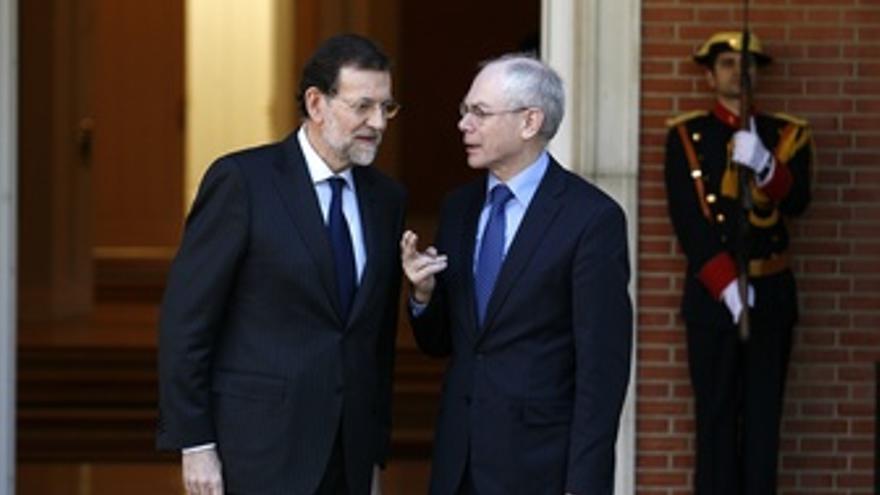 Rajoy Recibe A Van Rompuy En Moncloa