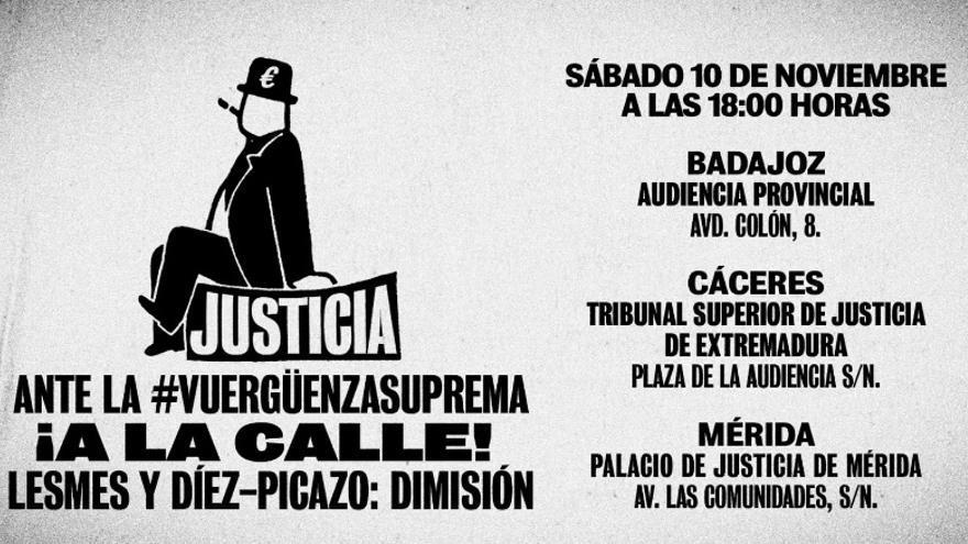 Protesta en Extremadura