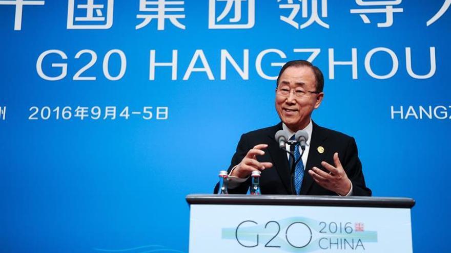 Ban Ki-moon pide al G20 que siga a EEUU y China y ratifique el acuerdo de París