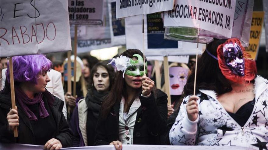 Manifestación por los derechos de las prostitutas.