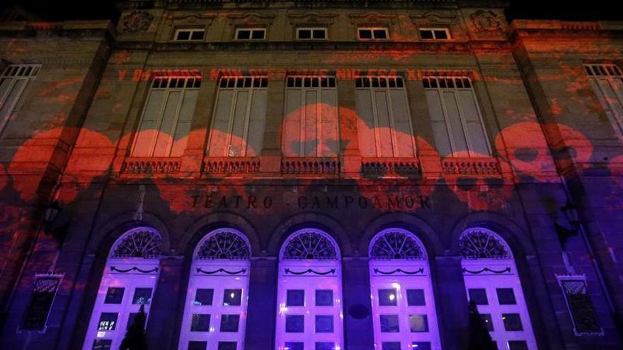 Fachada del Teatro Campoamor, en Oviedo.