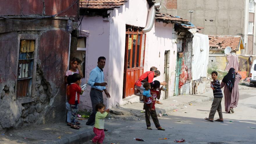Imagen de archivo de varios refugiados sirios en el vecindario Haci Bayram, Ankara.