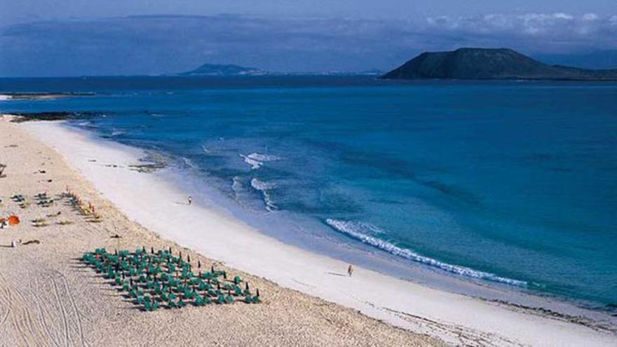 Grandes playas de Corralejo en Fuerteventura. Foto: Hola Islas Canarias