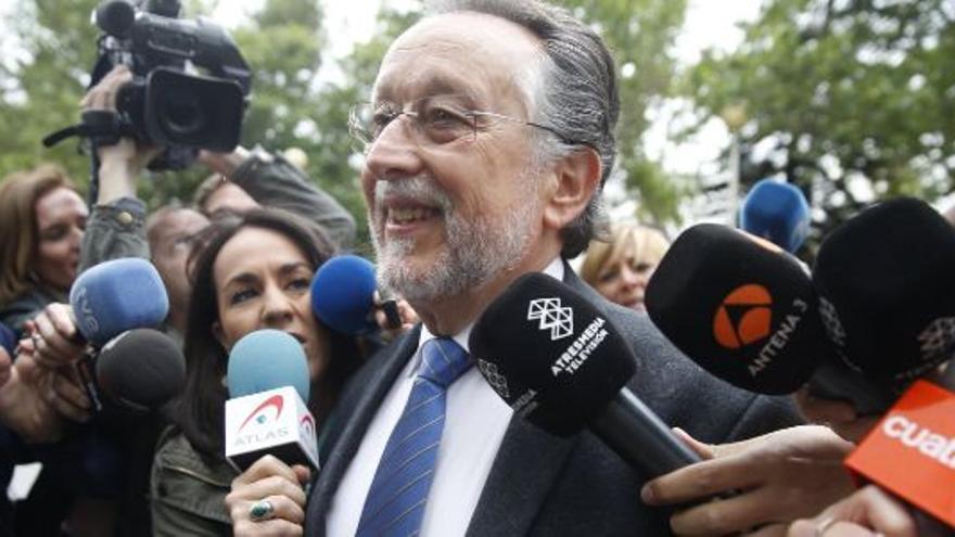 Alfonso Grau, exvicealcalde de Valencia, antes de declarar ante el juez por el caso Taula.