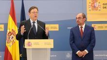 Ximo Puig y su homólogo aragonés Javier Lambán
