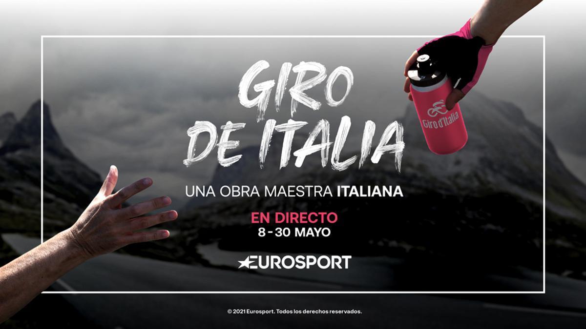 Imagen promocional del Giro de Italia 2021 en Eurosport