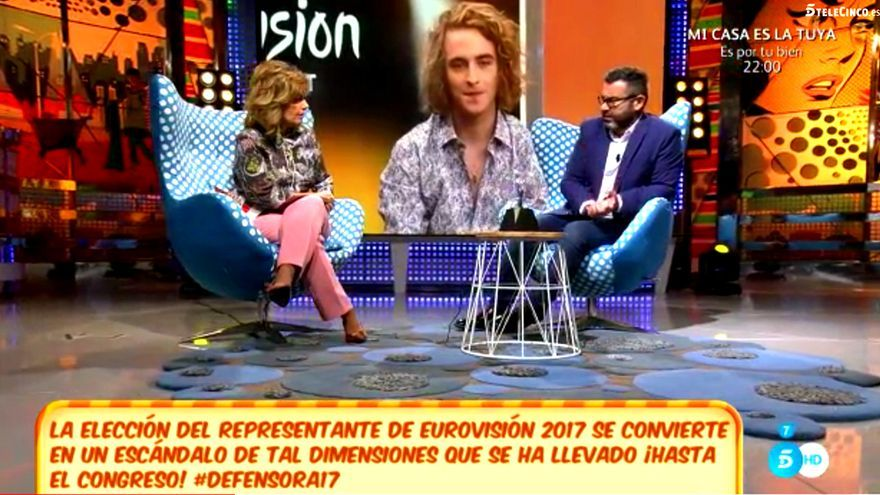 María Teresa Campos tacha Eurovisión de 'decadente' y Jorge Javier habla de 'talibanes'