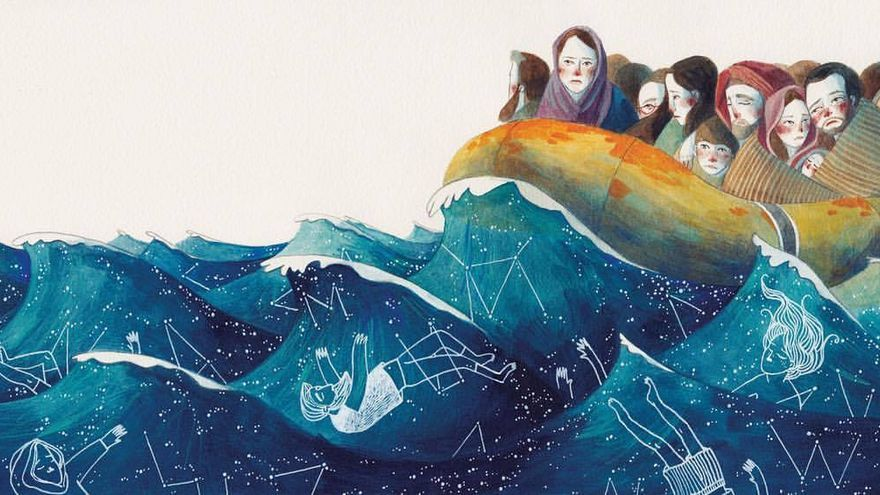 'Obriu les portes'. Il·lustració de Gemma Capdevila