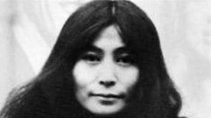 Una joven Yoko Ono