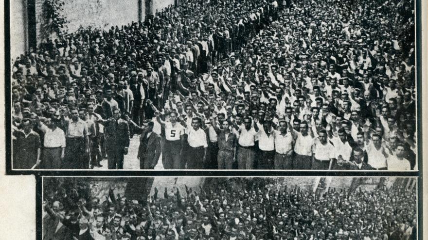 Cárcel para prisioneros de guerra en el antiguo edificio de Tabacalera en Santander. | DESMEMORIADOS