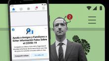 Facebook enviará alertas a los usuarios que hayan interaccionado con bulos sobre el coronavirus que afecten a la salud