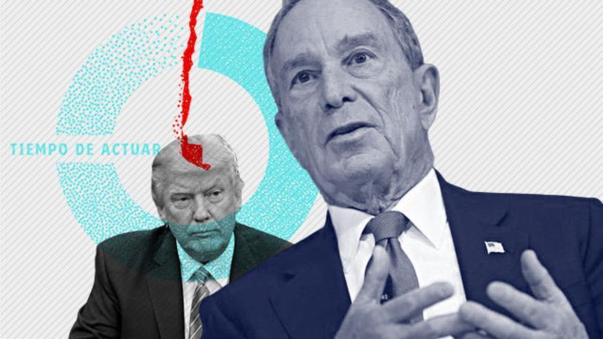 Michael Bloomberg anunció en noviembre su candidatura a las primarias del Partido Demócrata para las elecciones presidenciales de 2020 contra Trump.