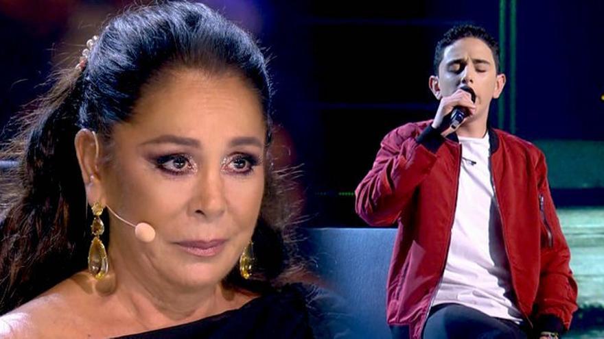 Isabel Pantoja, emocionada por la actuación de Adrián