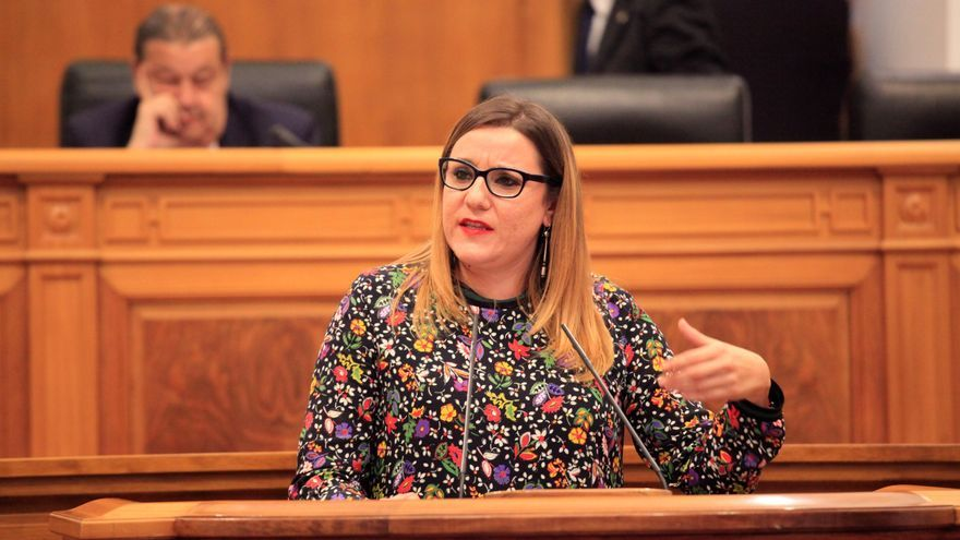 María Díaz en las Cortes regionales