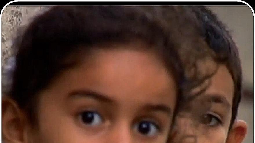 Dos niños de los terrtitorios ocupados palestinos.
