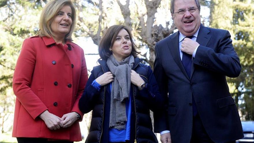 Herrera, junto a Sáenz de Santamaría y Báñez en Valladolid.