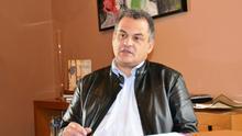 El alcalde de La Laguna, José Alberto Díaz, en un momento de la entrevista