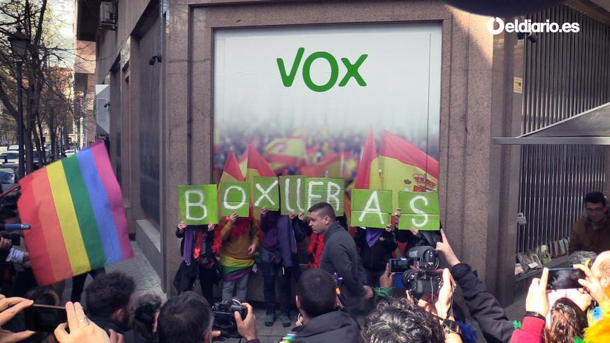 El fachitour bollero: un escrache a Vox y al PP en el 8M