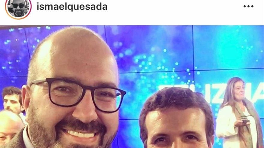 Ismael López junto a Pablo Casado en una de sus publicaciones en Instagram donde elogia las políticas del presidente del PP.