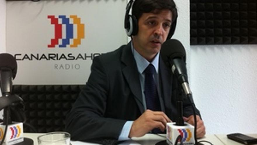 Javier González Ortiz, en los estudios de CANARIAS AHORA RADIO.
