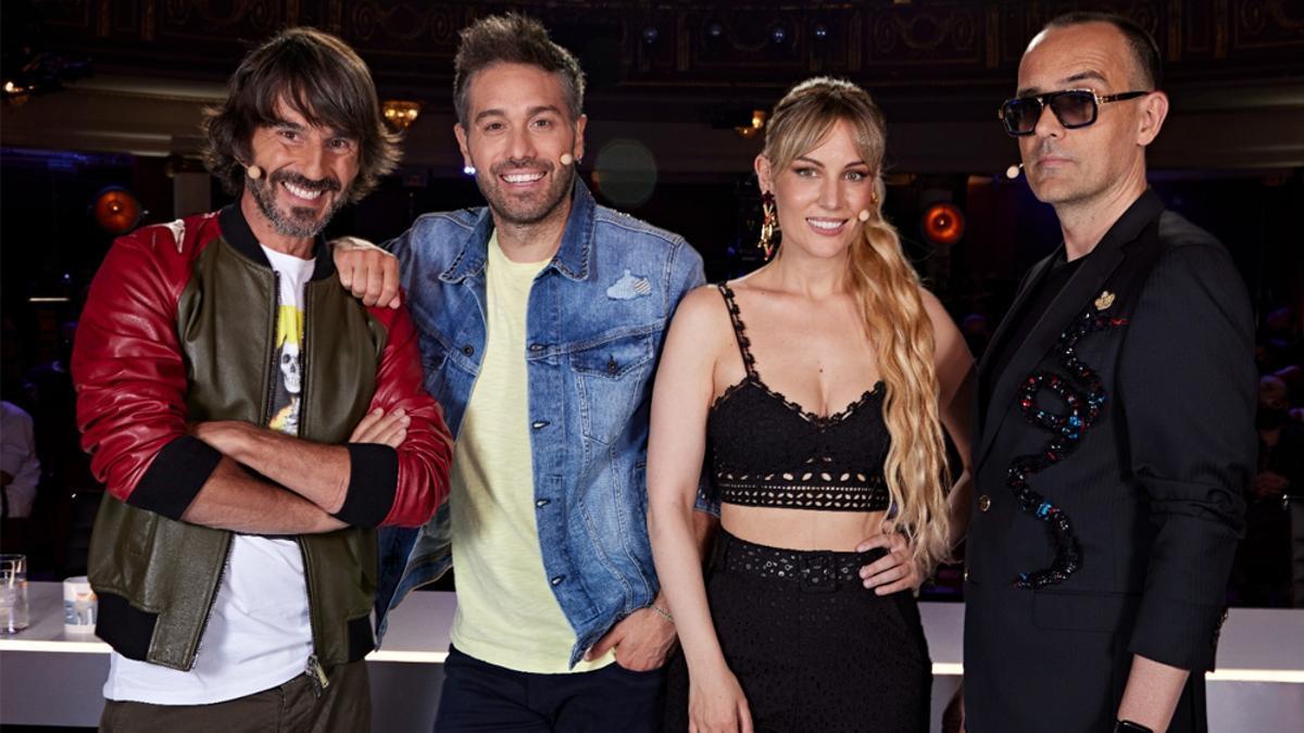 Santi Millán, Dani Martínez, Edurne y Risto Mejide en la grabación de 'Got Talent España 7'