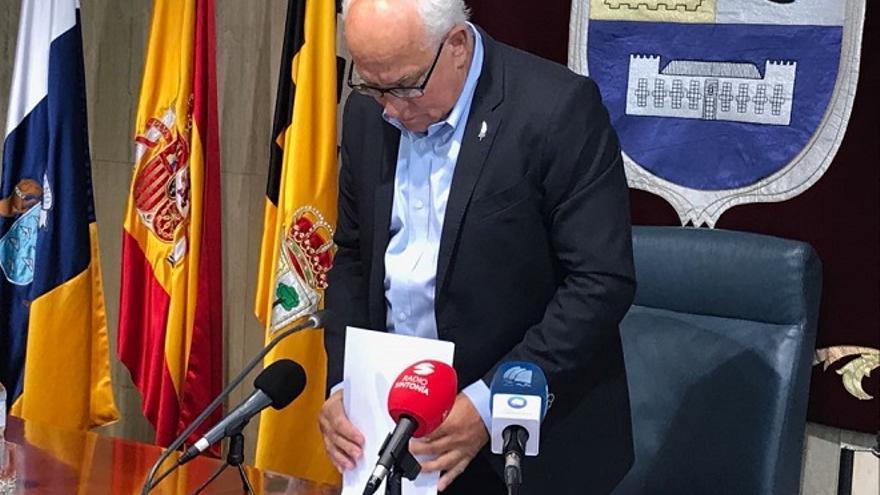 Pedro Amador, alcalde de La Oliva.